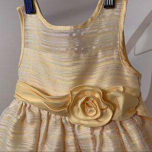 Yellow | White Striped Toddler/Girls Dress Size 2T